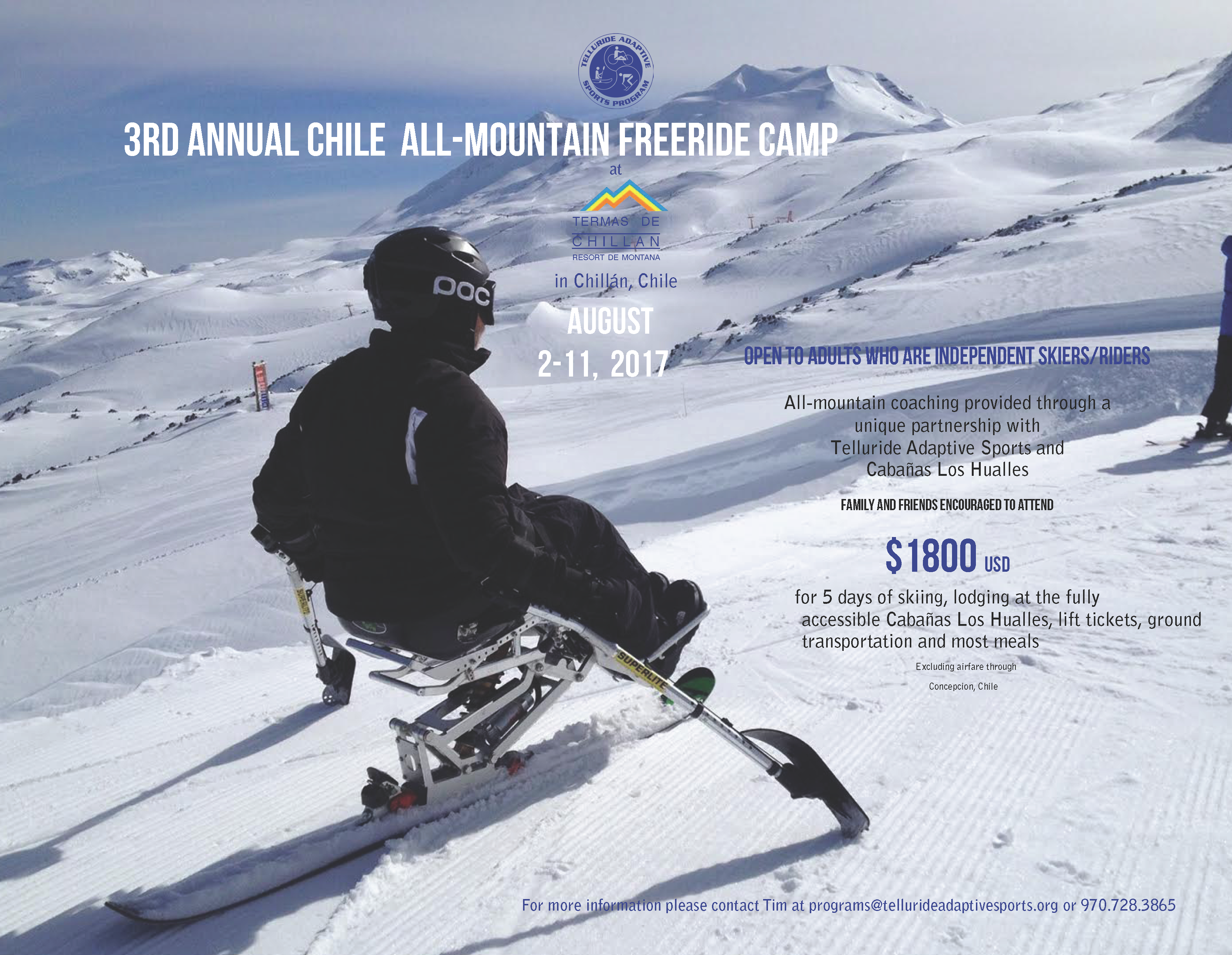 Telluride Adaptive Sports Program - Chile Summer Destination